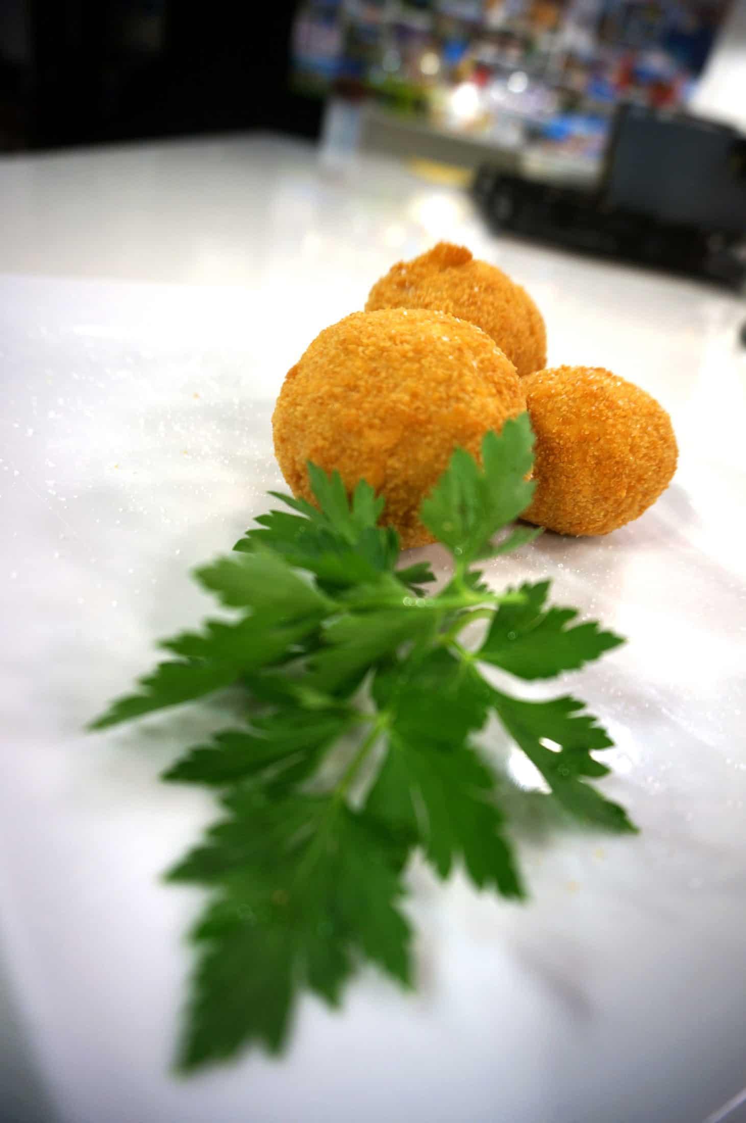 Reisbällchen aus Orangen Risotto