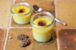 Mascarpone Creme mit Orangen und Kakaobohne